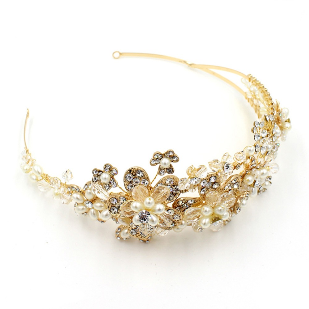 HOT Elegant Sparkly Lmitation Crystal Rhinestone Crown Tiara Wedding Prom Bridal <strong>Headband</strong>