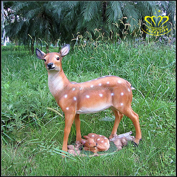 Wholesale For Sale Holiday Resort Decoration Modern Fiberglass Resin Animal Deer Sculpture