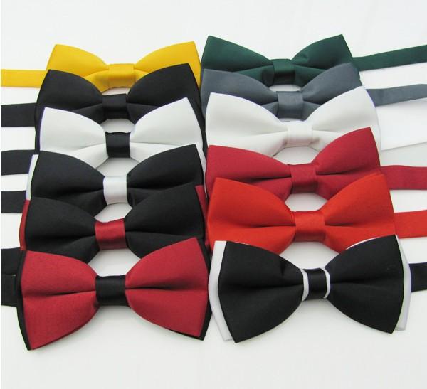 Англия - стиль галстук-бабочка мужчины и женщины Bilayer пром дутый свадьба галстук