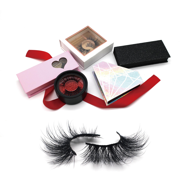 Homay Custom Packaging Vegan False Eyelash Manufacturers Private Label Faux Mink Silk Lashes Vendor 3D Mink 25mm Eyelashes, Natural black