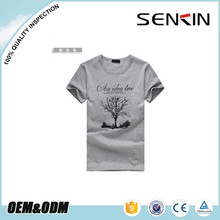 100% combed cotton jersey t-shirts, printing design mens Tshirts oem by clothing manufacturer
