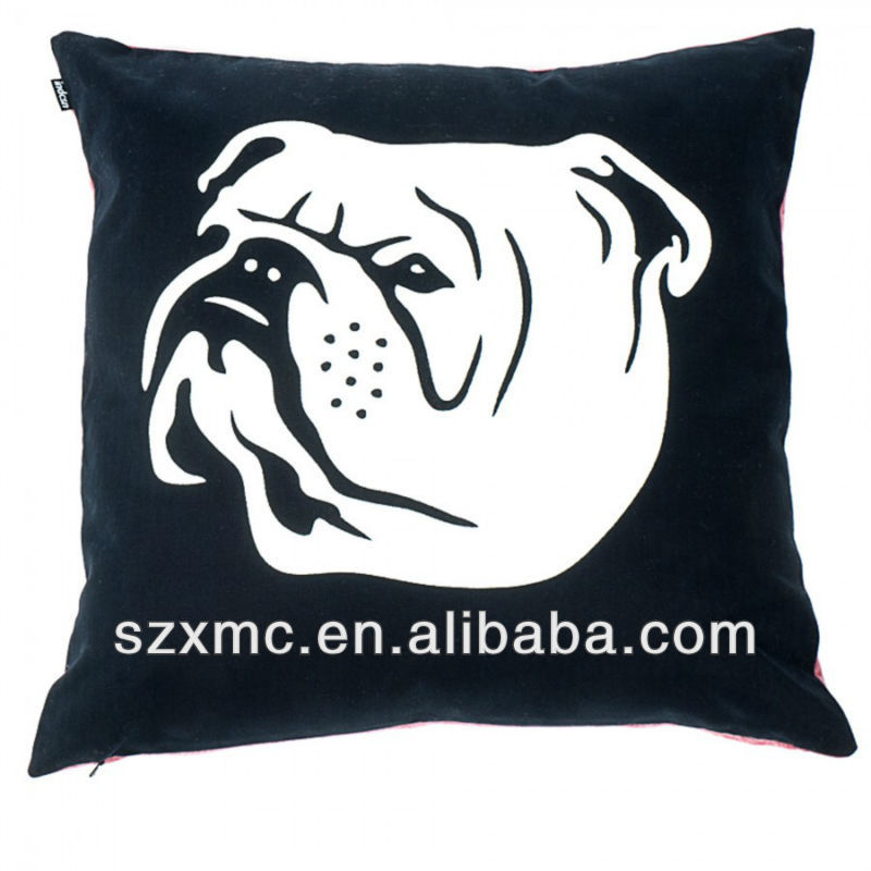 Animal printed super soft polyester microbeads filling pillow