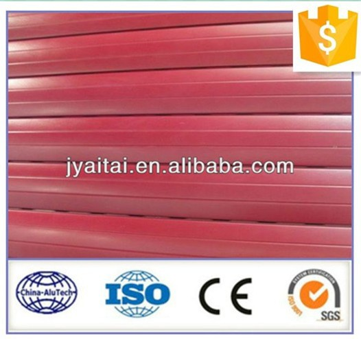 red powder coated useful hot selling aluminum profile