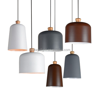 metal shade pendant lighting. decorative hanging pendant light modern pedant painting wood metal shade vintage grey brown white color lighting