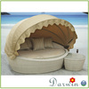 Fancy Cheap Price Outdoor Wicker Rattan Reclining Round Sofa Cum Bed Furniture