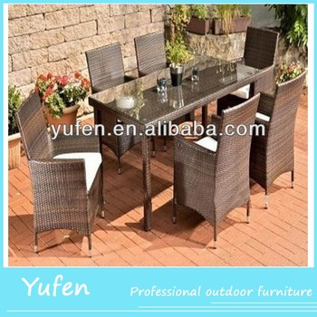 Dining Room Poly Rattan Outdoor Furniture Garden Dining Set Garden Outdoor Dining Table Set