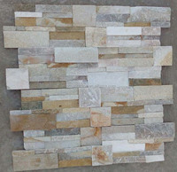 Natural slate S shape cultural stone wall panel WP-SK14