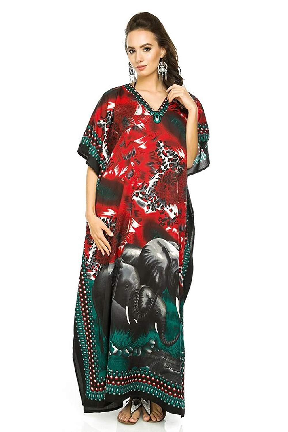 834599ec28 Get Quotations · Looking Glam New Ladies Oversized Maxi Kimono Kaftan Tunic  Kaftan Dress Free Size