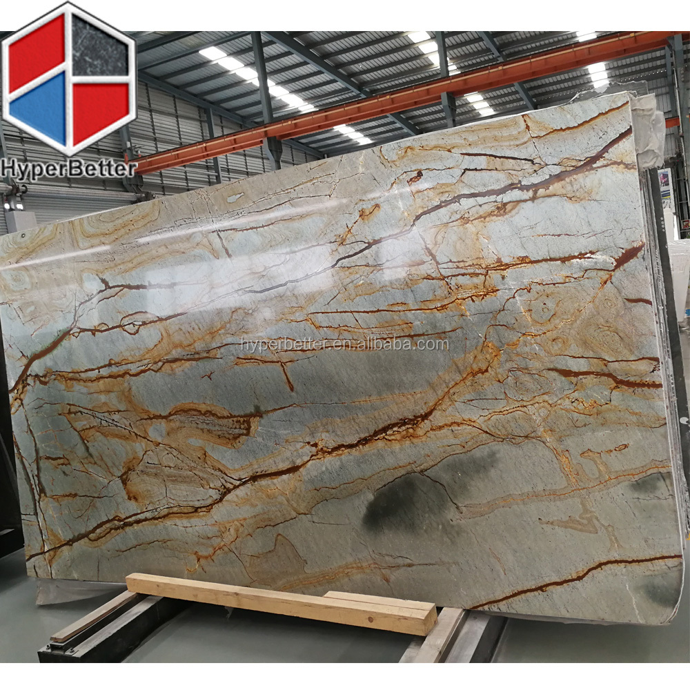 Exotic azul mary quartzrite slabs