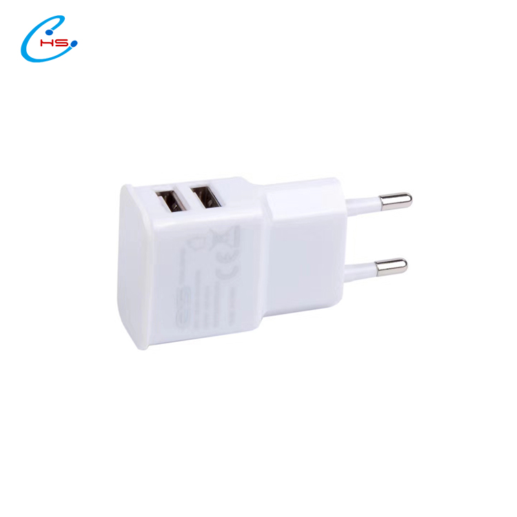 EU Plug Dual USB 5V 2A Wall Charger 2 Ports Travel Adapter USB Charger for iPhone 7 8 for iPad