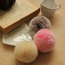 Factiry Direct Fashion Faux fur Ball / Fake Fur Pompoms For Keyring / Beanie Hat / Bag