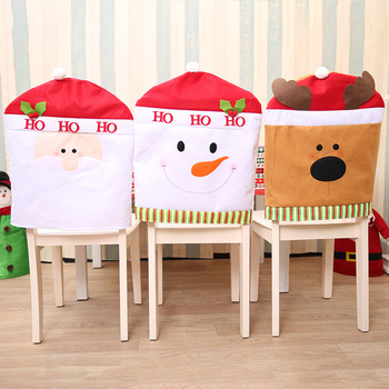 Custom Christmas Party Decor Decoration Ornaments Chair Back Cover