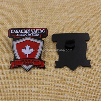 Canada country flag badges black plating metal lapel pin
