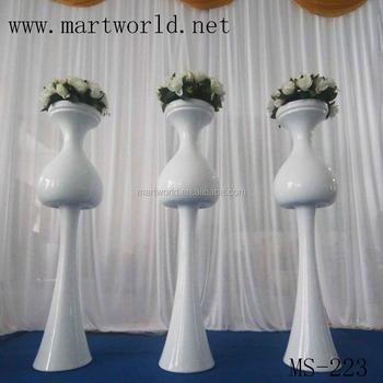 Glass Fiber Wedding Pillars Columns For Sale,Flower Vase ...