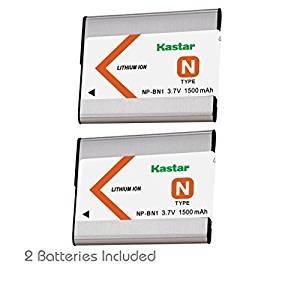 Kastar Battery (2-Pack) for NP-BN1, BC-CSN & Sony Cyber-shot DSC-QX10,DSC-QX100,DSC-T99,DSC-T110,DSC-TF1,DSC-TX5,TX7,TX9,DSC-TX10,DSC-TX20,DSC-TX30,DSC-TX55,DSC-TX66,DSC-TX100V,DSC-TX200V,DSC-W310