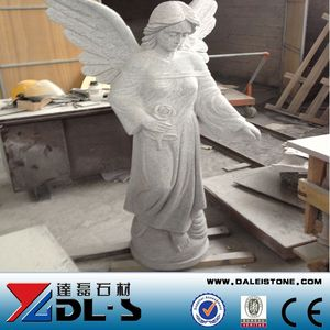 Hot Sell And On Sell Grave Statues, White Marble Angel Statue