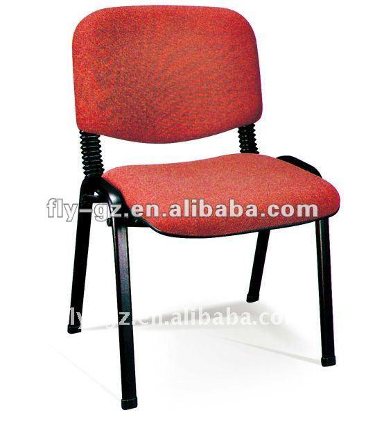 Tela moderna silla de oficina sin ruedas sillas de metal for Sillas para oficina sin ruedas