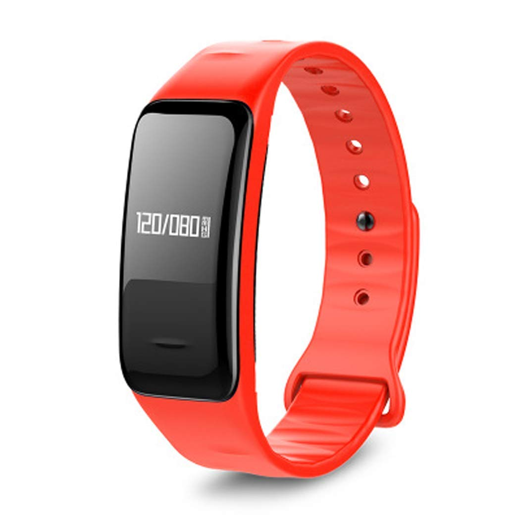 YWY Fitness Trackers with Heart Monitor C1 Heart Rate Blood Pressure Sleep Monitoring Smart Bracelet Sports Waterproof Step Watch Sport Watch Step Counter (Color : Red)