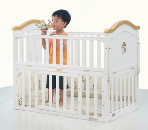 European style wooden classic 4 in 1 adult size cribs/high quality pine wood children's crib