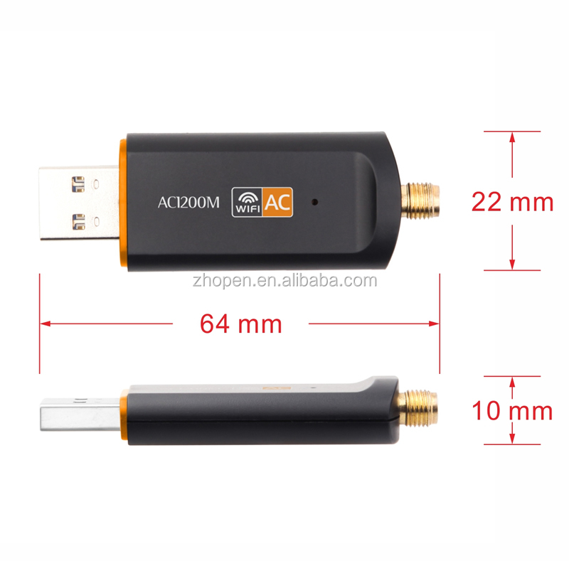 80211gn Usb Wifi Wireless Lan Adapter Driver Rtl8812 Chipset Ac 1200m Usb  Wifi 5db Antenna Adapter For Android Tv Box - Buy 1200m Usb Wifi,1200m