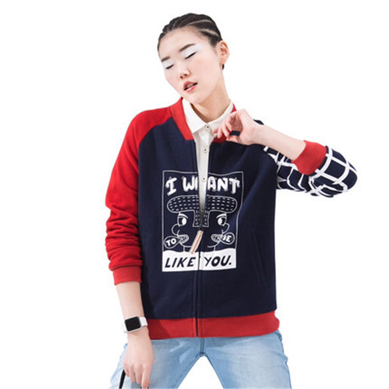 Wholesale High Quality Custom womens hoodie jacket with hoodie zip