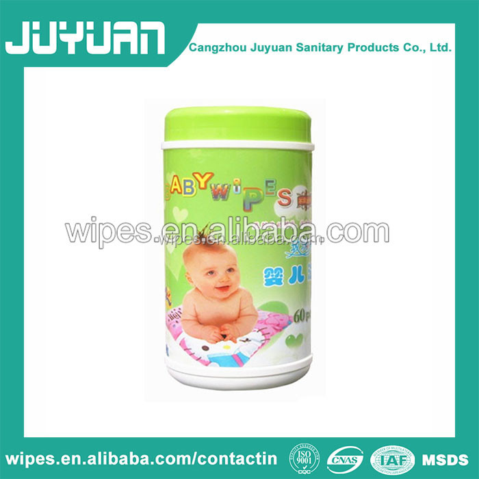 Natural Organic Non-woven Hand and Month Baby Wet Wipes 80pulls in canister OEM Welcomed