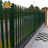W section pale 50*50mm angle iron security concrete wall steel palisade fencing