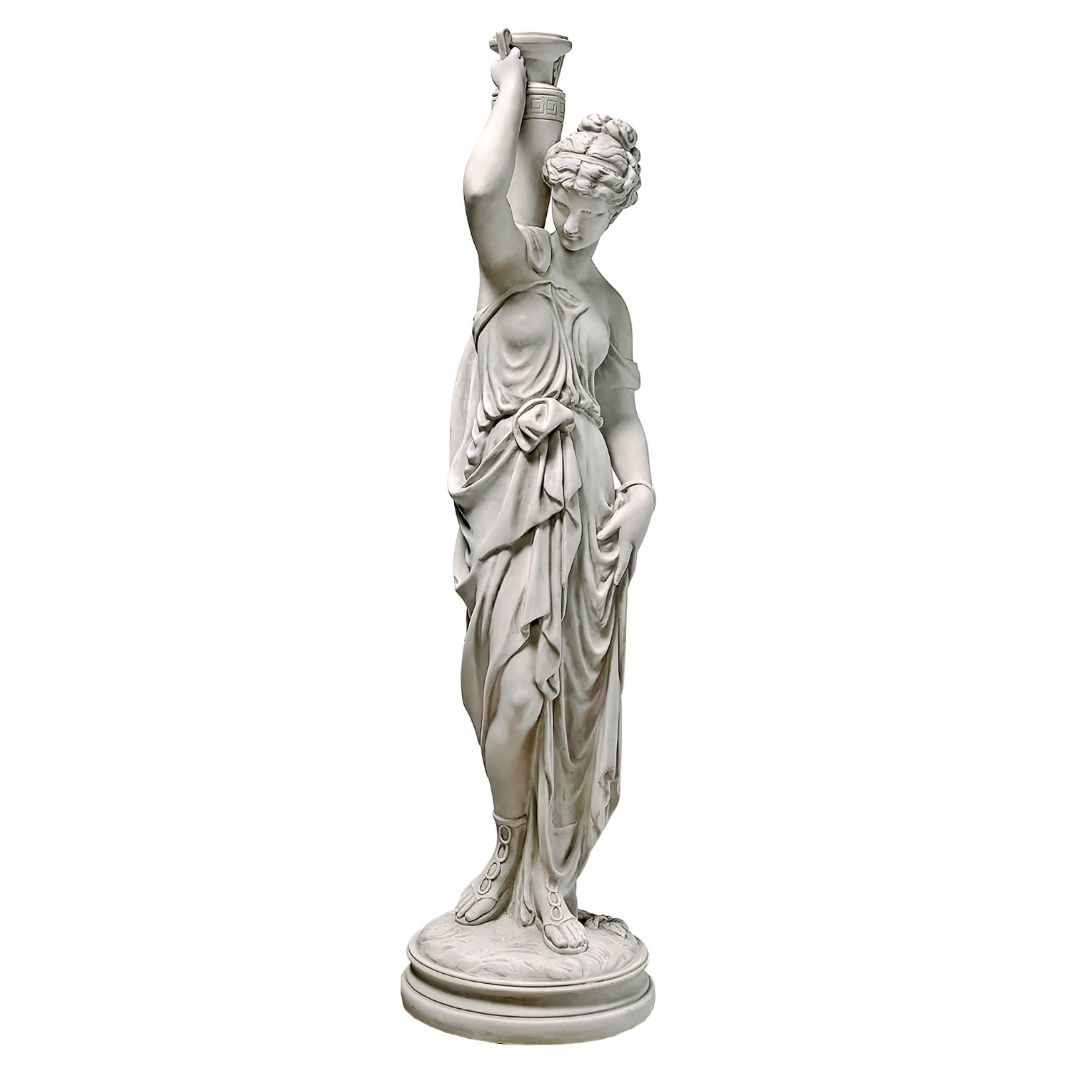 Design Toscano Dione The Divine Water Goddess Greek Garden Statue, 39 Inch, Polyresin, Antique Stone