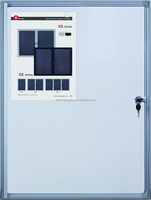 Guangdong factory office wall glass key cabinets Lockable pin board/notice board/whiteboard cabinet