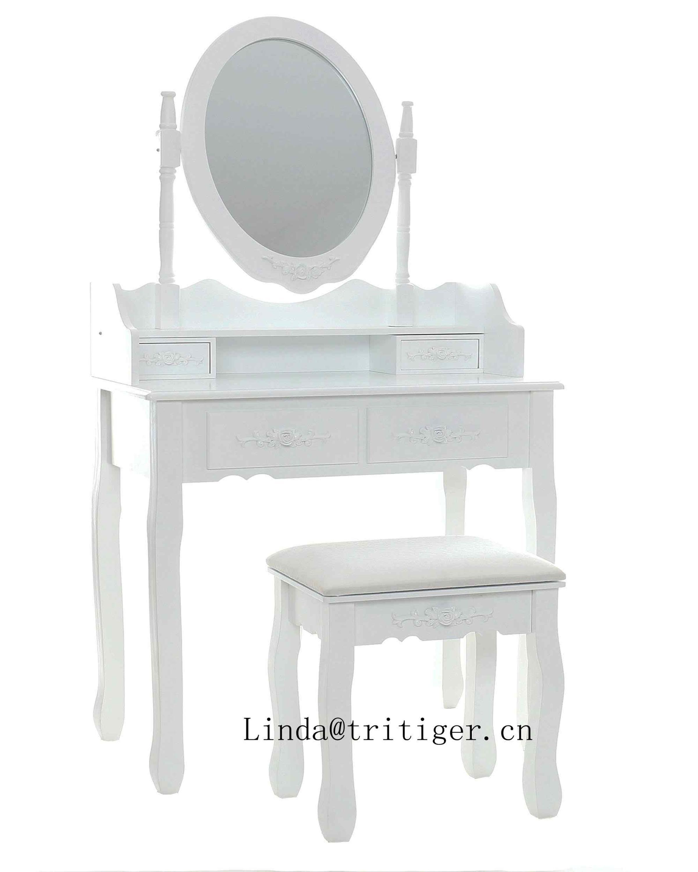 Ongebruikt Plywood Mdf Dressing Table Set With Mirror Makeup Vanity Table KJ-56