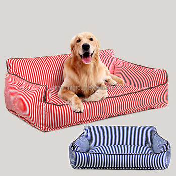 Phenomenal Eco Friendly Pet Trendy Modern China Comfortable And Warm Stripe Canvas Dog Sofa Large Red Blue Color Large Innovative Dog Bed Buy Innovative Dog Gmtry Best Dining Table And Chair Ideas Images Gmtryco