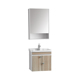 Low price Mini size ceramics wash basin sink wall mount hung plywood solid wood bath bathroom vanity cabinet