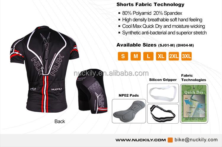 e06463b30 Nuckily Men s mountain bike KingKong design cycling ss jersey and short set