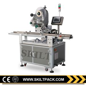 Top Side Full Automatic Labelling Plastic Bag Machine