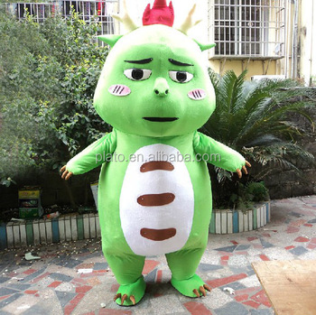 Attractive little green dinosaur mascot costume/plush cartoon dragon costume & Attractive Little Green Dinosaur Mascot Costume/plush Cartoon Dragon ...