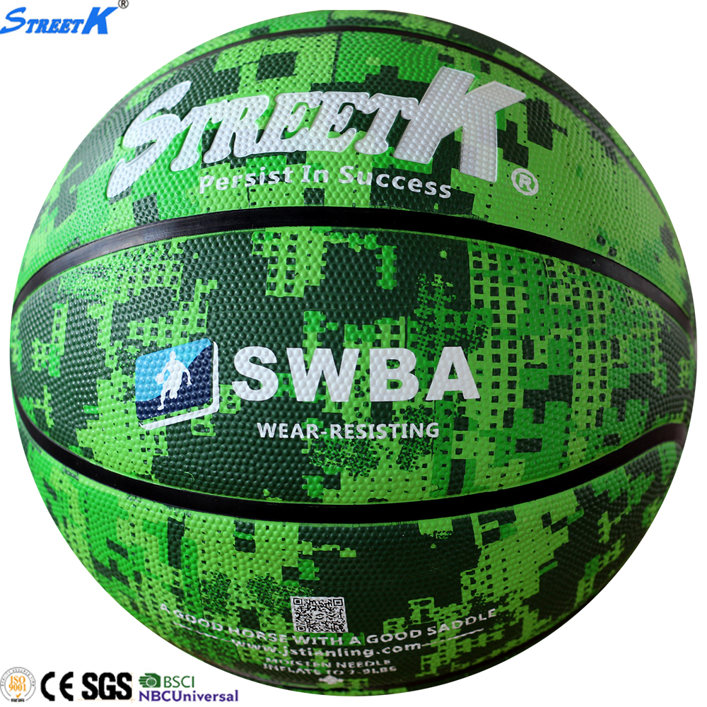 deep channel rubber basketball ball/emboss logo basketball/dood design basketball
