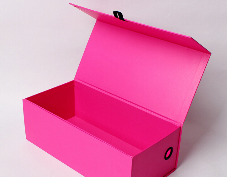 custom luxury red folding shoe box with magnet