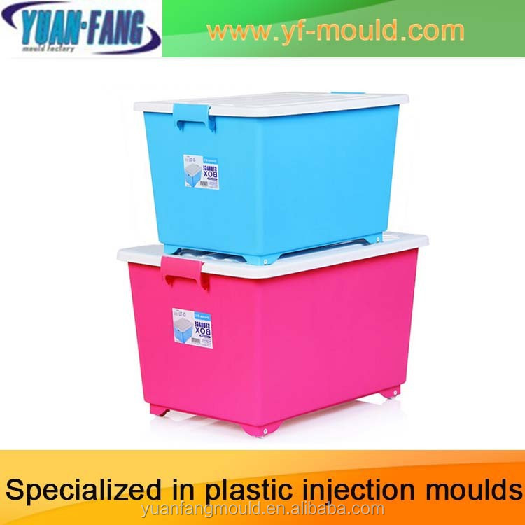 Plastic Mold for Turnover Box Storage Basket