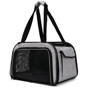Folding Pet Carrier bag Dog carrier and Cat Soft Sided fabric bag Kennel Travel Hiking bike Outdoor & Indoor airport use