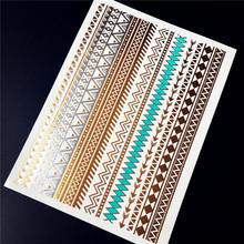 new shiny Health Beauty Body Art gold tattoo sexy diamond bracelets HYS 42 women henna jewelry