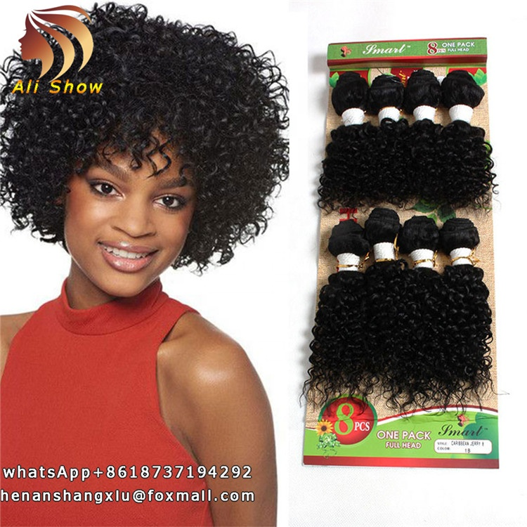 8pc Hair Manufacturer Factory Price French Curly Hair Wholesale Hot Sell Human Hair Weave Kinky Curly Bundles Mongolian Kinky, Natural black tbug t27 t30