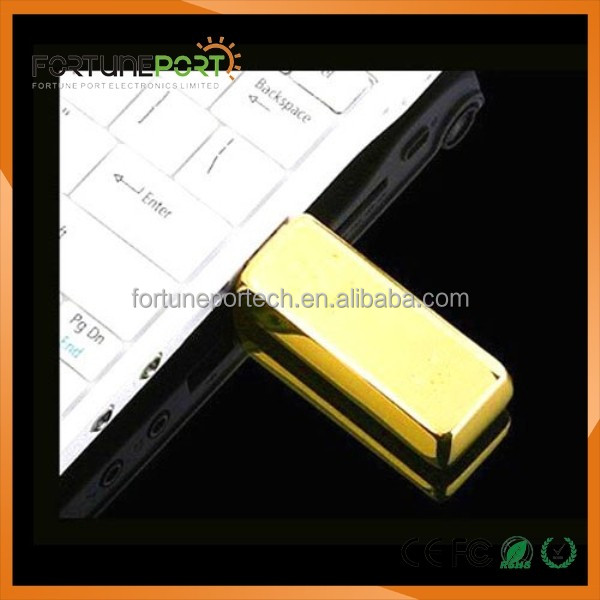High quality bar golden usb 3.0 fast speed flash drives 2gb/4gb metal gold driver usb 4gb with ce fc rosh
