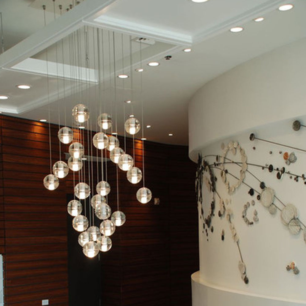 Fashion Design Oval Crystal Bubble Chandelier Modern Living Room Lights LED Bar Pendant Lamp