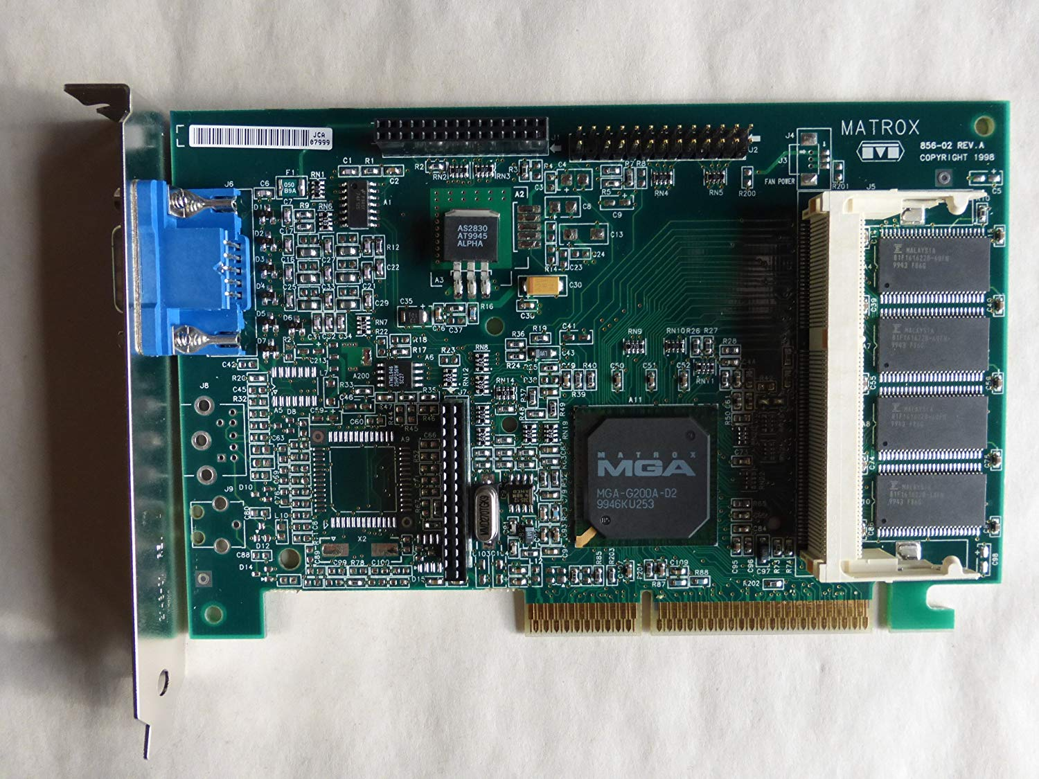 MATROX MGA-G200A AGP DRIVER FOR PC