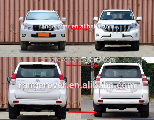 2008-2014 toyota prado upgrade body kit for 2016 ,prado old style upgrade new style body kit