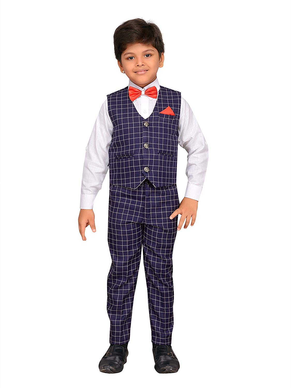 57248ec9b7 AJ Dezines Kids Indian Wear Bollywood Style Shirt Waistcoat and Pant  Clothing Set for Boys