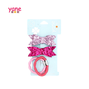 popular hair accessories set glittering bow hair band for girls