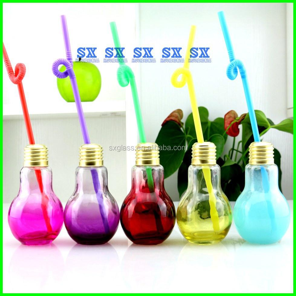 Lamp Bulb Shape Glass Perfume Bottle,Lamp Juice Bottle,Lamp Spice ... for Lamp Bottle Juice  59nar