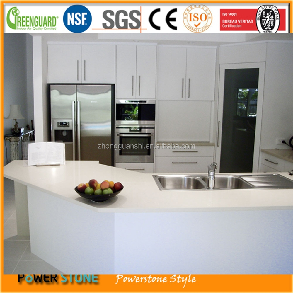 Crystal White Quartz Stone Counter and Bar Top