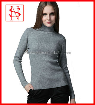 Women's Turtleneck Sexy Tight Wool Pullover Sweater - Buy Tight ...